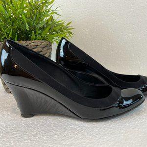 Salvatore Ferragamo patent leather wedge heels